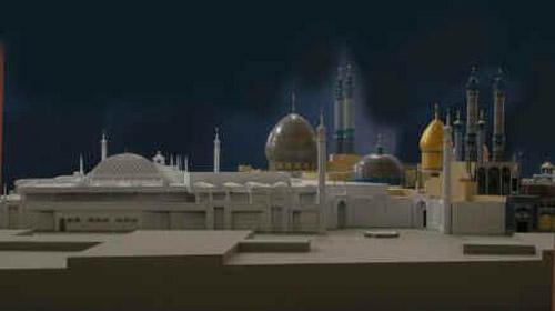 Qome mosque model,Architect:Mir Heidar,Modle Photographer:Dr.Omidvar