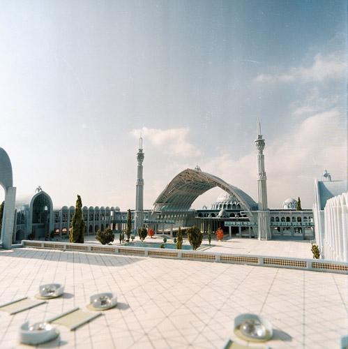 mosala mosque,Architect:Moaydahd,Model Photographer:Dr.Omidvar