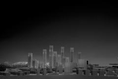 Atisaz center model .Architect Daneshmir,model photographer :Dr.Omidvar