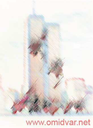 "Digital painting of ""Do not forget 11 september\"" By Dr.Omidvar"