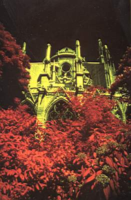 1976 in paris .infra red photography
