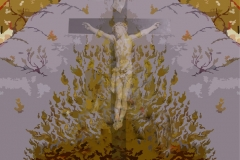 jesus christ painting-proposal for the stage of the baptist church in NEW YORK Artist Ata Omidvar2008